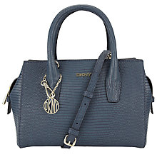 Buy DKNY Fashion Two Tone Lizard Leather Satchel, Ink Online at johnlewis.com