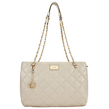 Buy DKNY Gansevoort Quilted Leather Shopper Bag, Cement Online at johnlewis.com