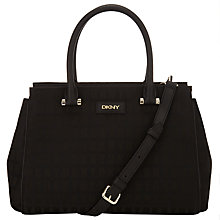 Buy DKNY HQ Bryant Park Saffiano Leather Satchel Bag, Black Online at johnlewis.com