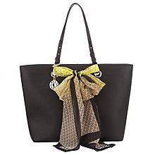 Buy DKNY Scarf Saffiano Leather Shopper Bag, Black Online at johnlewis.com