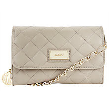 Buy DKNY Gansevoort Small Quilted Leather Across Body Bag, Cement Online at johnlewis.com