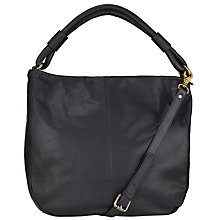 Buy John Lewis Slouchy Leather Hobo, Black Online at johnlewis.com