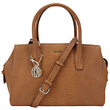 Buy DKNY Fashion Two Tone Lizard Top Zip Leather Satchel, Walnut Online at johnlewis.com