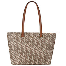 Buy DKNY Heritage Coated Logo Vachetta Shopper Bag, Tan Online at johnlewis.com