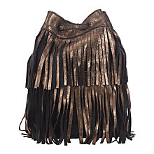 Buy Collection WEEKEND by John Lewis Sayen Fringe Leather Bucket Bag, Bronze Online at johnlewis.com