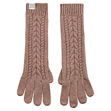 Buy Joules Kizzy Cable Knit Gloves, One Size, Taupe Online at johnlewis.com