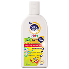 Buy Sunsense Kids Sun Cream SPF 50+, 125ML Online at johnlewis.com