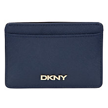 Buy DKNY Bryant Park Saffiano Leather Card Holder, Ink Online at johnlewis.com