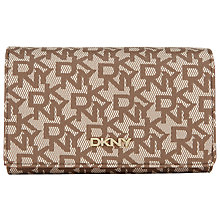 Buy DKNY Coated Logo Foldover Purse, Tan Online at johnlewis.com