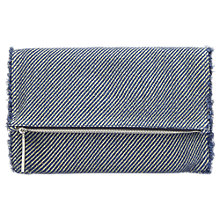 Buy Whistles Clairmont Denim Clutch Bag, Blue Online at johnlewis.com