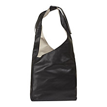 Buy Gerard Darel Ota Leather Shoulder Bag, Black Online at johnlewis.com