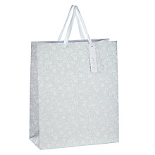 Buy John Lewis Flitter Flower Gift Bag, Medium Online at johnlewis.com