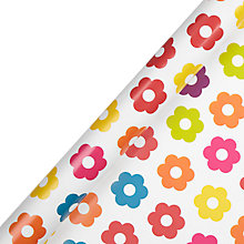 Buy John Lewis Multi Flower Roll Wrap, 3 metres Online at johnlewis.com