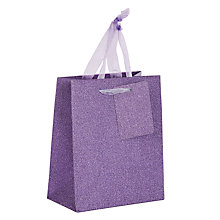 Buy John Lewis Glitter Gift Bag, Mini Online at johnlewis.com