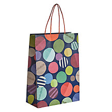 Buy John Lewis Textured Spot Gift Bag, Large Online at johnlewis.com