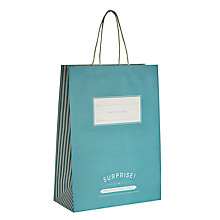 Buy John Lewis Turquoise Candy Stripe Gift Bag, Large Online at johnlewis.com