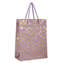 Buy Vivid Kraft Purple Glitter Spotted Gift Bag, Medium Online at johnlewis.com