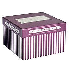 Buy John Lewis Candy Stripe Gift Box, Medium, Purple Online at johnlewis.com