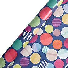 Buy John Lewis Textured Spot Gift Wrap, 3m Online at johnlewis.com