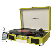 Buy Crosley Cruiser Turntable With Three Speeds, Green Online at johnlewis.com