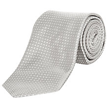 Buy Jaeger Micro Tonal Square Silk Tie Online at johnlewis.com