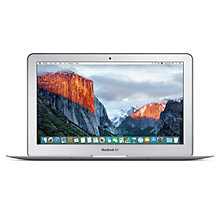 "Buy Apple MacBook Air, Intel Core i5, 4GB RAM, 128GB Flash Storage, 11.6"" Online at johnlewis.com"