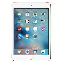 "Buy Apple iPad mini 4, Apple A8, iOS, 7.9"", Wi-Fi & Cellular, 64GB Online at johnlewis.com"