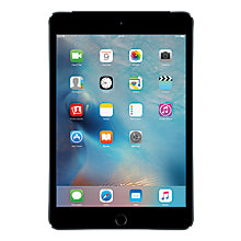 "Buy Apple iPad mini 4, Apple A8, iOS 9, 7.9"", Wi-Fi & Cellular, 64GB Online at johnlewis.com"