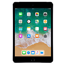 "Buy Apple iPad mini 4, Apple A8, iOS, 7.9"", Wi-Fi & Cellular, 128GB Online at johnlewis.com"