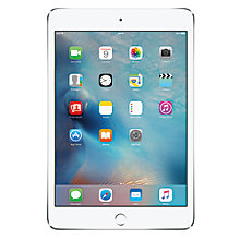 "Buy Apple iPad mini 4, Apple A8, iOS, 7.9"", Wi-Fi & Cellular, 16GB Online at johnlewis.com"