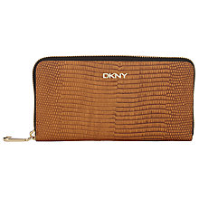 Buy DKNY Leather Large Zip Around Purse Online at johnlewis.com