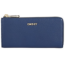 Buy DKNY Tribeca Tumbled Leather Carryall Half Zip Purse Online at johnlewis.com