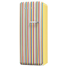 Buy Smeg FAB28YCS1 Fridge A++ Energy Rating, 60cm Wide, Left-Hand Hinge, Colour Stripe Online at johnlewis.com