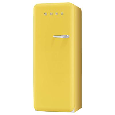 Smeg FAB28YG1 Fridge A Energy Rating 60cm Wide LeftHand Hinge Yellow