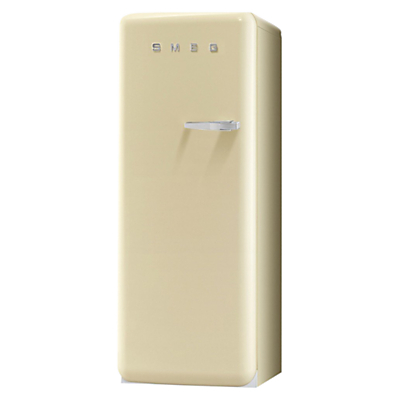 Smeg FAB28YP1 Fridge with Ice Compartment A Energy Rating 60cm Wide LeftHand Hinge Cream