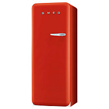 Buy Smeg FAB28YR1 Fridge A++ Energy Rating, 60cm Wide, Left-Hand Hinge, Red Online at johnlewis.com