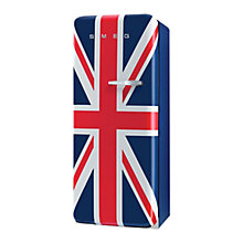 Buy Smeg FAB28YUJ1 Fridge A++ Energy Rating, 60cm Wide, Left-Hand Hinge, Union Jack Online at johnlewis.com