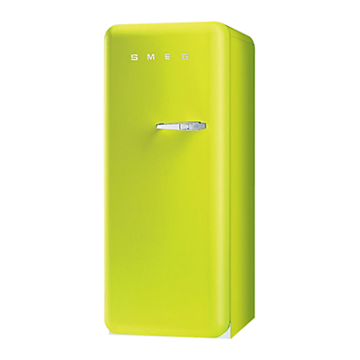 Smeg FAB28YVE1 Fridge A Energy Rating 60cm Wide LeftHand Hinge Lime Green