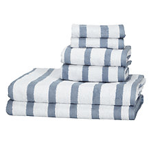 Buy John Lewis 6 Piece Cotton Towel Bale, Pacific Stripe Online at johnlewis.com