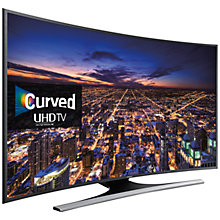 "Buy Samsung UE40JU6500 Curved 4K Ultra HD Smart TV, 40"" with Freeview HD/freesat HD, Built-In Wi-Fi and Intelligent Navigation Online at johnlewis.com"