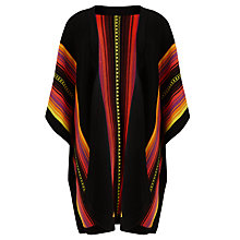 Buy Somerset by Alice Temperley Mexican Poncho, Black/Red Online at johnlewis.com