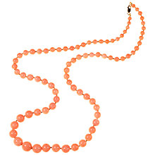 Buy Alice Joseph Vintage 1950s Lucite Bead Necklace, Pink Online at johnlewis.com