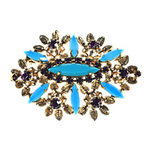 Buy Alice Joseph Vintage 1960s Faux Turquoise and Ameythyst Diamante Brooch Online at johnlewis.com