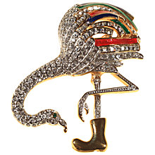 Buy Alice Joseph Vintage Attwood & Sawyer Flamingo Brooch, Multi Online at johnlewis.com