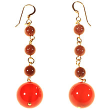 Buy Alice Joseph Vintage Semi-Precious Carnelain Bead Drop Earrings, Orange Online at johnlewis.com