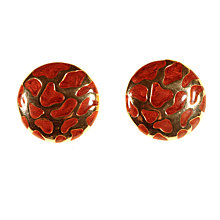 Buy Alice Joseph Vintage Ballenciaga Gold Plated Enamel Giraffe Print Clip-On Earrings, Gold/Brown Online at johnlewis.com