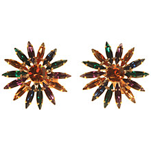 Buy Alice Joseph Vintage Gilt Plated Diamante Navette Clip-On Earrings, Blue Online at johnlewis.com