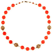Buy Alice Joseph Vintage Carnelian Necklace, Orange Online at johnlewis.com