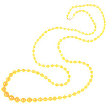 Buy Alice Joseph Vintage 1920s Opera Length Satin Glass Bead Necklace, Yellow Online at johnlewis.com