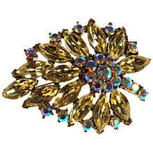 Buy Alice Joseph Vintage 1950s Weiss Aurora Borealis Diamante Brooch, Lemon Online at johnlewis.com